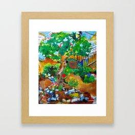 Backyard Fig Tree Framed Art Print