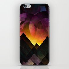 Whimsical mountain nights iPhone Skin