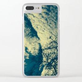 a break in the sky Clear iPhone Case