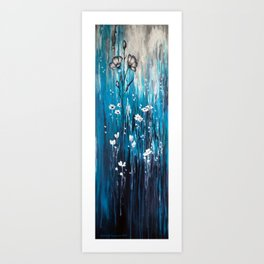FloresceneBlue Art Print