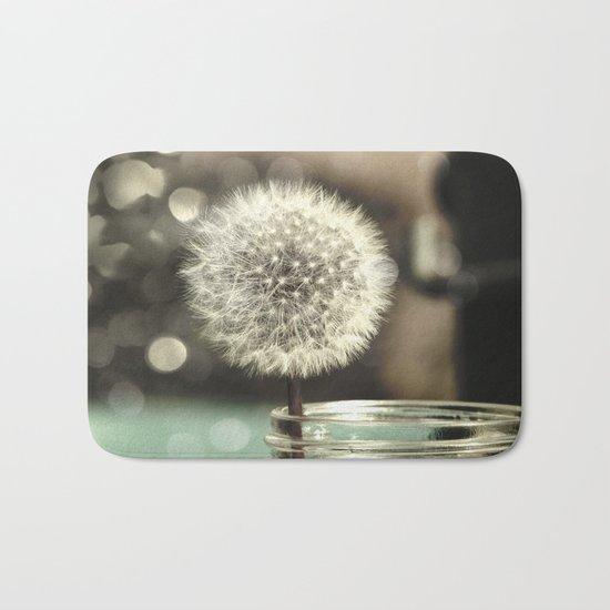Dandelion in a Jar Bath Mat