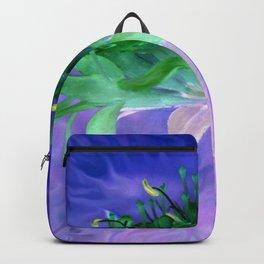 Field flower-blue and violet background Backpack