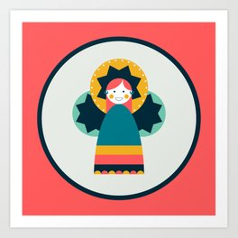 Moulid Doll - Coral Art Print