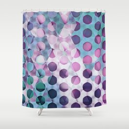 Circles on Triangles Lavenders Blues Shower Curtain