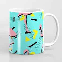 Flamingos Memphis #society6 #decor #buyart Coffee Mug