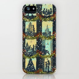 Christmas in the Windows Blue iPhone Case