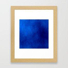 Misty Deep Blue Framed Art Print