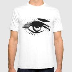 POP eye White MEDIUM Mens Fitted Tee