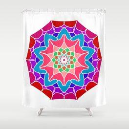 Meditation mandala in energizing colors Shower Curtain