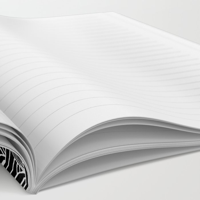 Black and White Waves Drawing Notebook