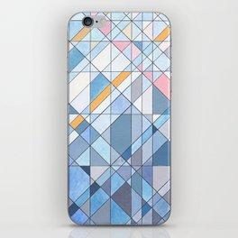 Triangle Pattern no.17 Light Blues iPhone Skin