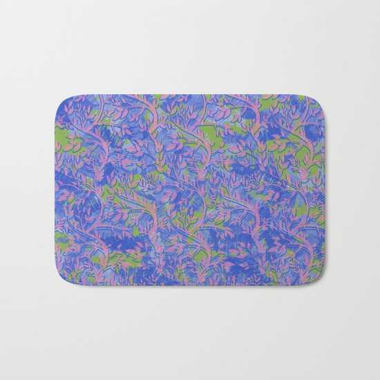Shoots, Stems and Leaves abstract Bath Mat