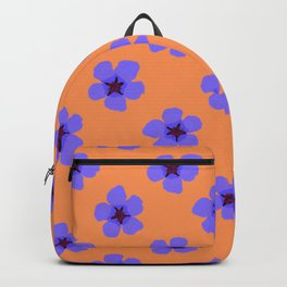 Colorful hand drawn retro home decor and textile design almond flowers pattern #3 Backpack
