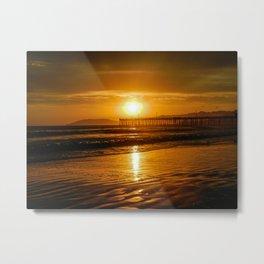 Pismo Beach Sunset Metal Print