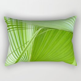 Palm Leaves // Tropical Wall Art, Beach Cottage Decor, Coastal Art Rectangular Pillow