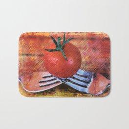 A Tomato Sketch Bath Mat