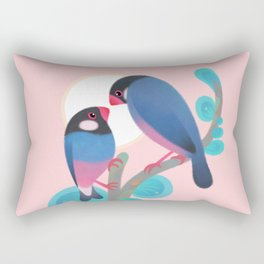 Java sparrows Rectangular Pillow