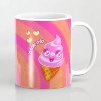 icecream Mugs featuring Mr  Icecream by Helenasia