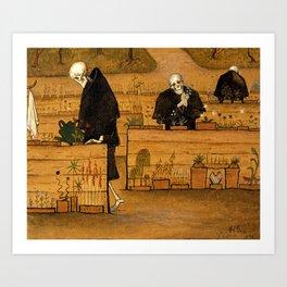 Hugo Simberg - The Garden of Death Art Print