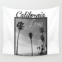 tupac Wall Tapestries featuring California Love  by Gold Blood