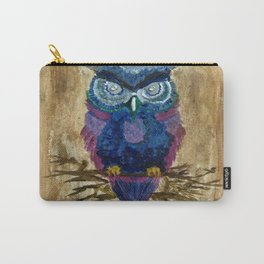 Perched Owl Carry-All Pouch