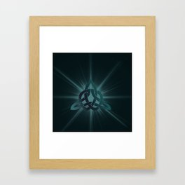 Celtic knot starburst Framed Art Print