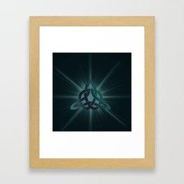 Celtic knot starburst Framed Art Print