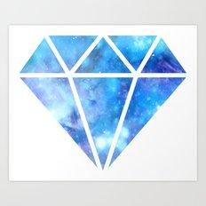 Blue Nebula Diamond Art Print