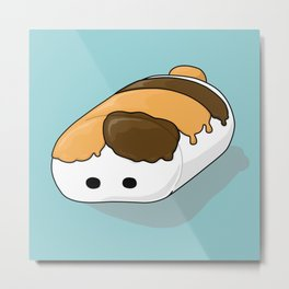 Fat Cat Marshmallow Metal Print