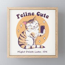 Feline Cute Challenge Framed Mini Art Print