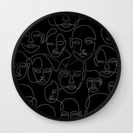 Face Thread Wall Clock