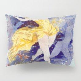 Folies Berg Res Fleur De Lotus 1893 By Jules Cheret | Reproduction Art Nouveau Pillow Sham
