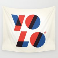 yolo Wall Tapestries featuring Yolo by Wharton
