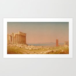 Ruins of the Parthenon Oil Painting by Sanford Robinson Gifford Art Print