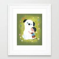 best friends Framed Art Prints featuring Best Friends by Greg Abbott