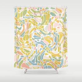 Pastel Pebbles Shower Curtain