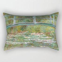 """Claude Monet """"Bridge over a Pond of Water Lilies"""" Rectangular Pillow"""