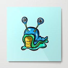 Blue Slug, Somewhat Confused! Metal Print