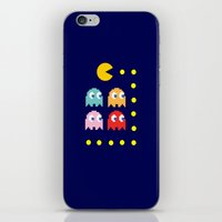 pacman iPhone & iPod Skins featuring Pacman by ARIS8