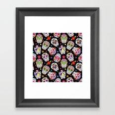 Colorful Sugar Skulls Framed Art Print