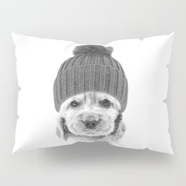 Black and White Cocker Spaniel Pillow Sham