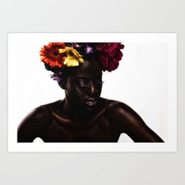 Floral Afro Art Print