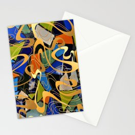 Antique Abstract pattern art and craft  Stationery Cards