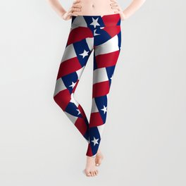 Texan state flag - high quality vertical authentic Version  Leggings