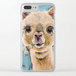 Aplaca Art, 'Holly' Alpaca prints Clear iPhone Case