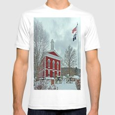 Iron County Courthouse Mens Fitted Tee White MEDIUM