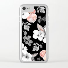 Night bloom - moonlit flame Clear iPhone Case
