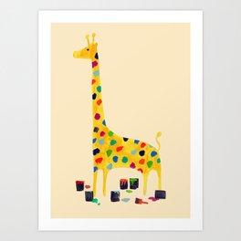 Paint by number giraffe Art Print