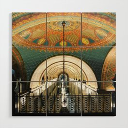 Art Deco Fisher Building Downtown Detroit Wood Wall Art