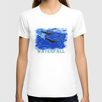 waterfall T-shirts featuring Waterfall by Avigur